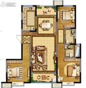 德杰・德裕天下3室2厅2卫137平方米户型图