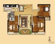 新龙御都国际3室2厅1卫115平方米户型图
