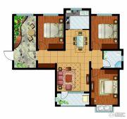 东胜紫御府3室2厅1卫106平方米户型图