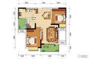 卓信金楠天街2室2厅1卫77平方米户型图