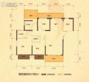 南宁江南万达广场3室2厅2卫120平方米户型图