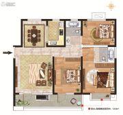 力高阳光海岸3室2厅2卫115平方米户型图