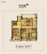 世茂天慧3室2厅1卫100平方米户型图