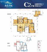 昌泰茗城5室2厅2卫139平方米户型图