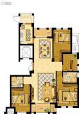 金地家园・公寓4室2厅2卫143平方米户型图