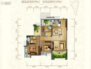 东江首府2室2厅2卫98平方米户型图