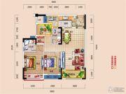 i昕晖2室2厅2卫71平方米户型图