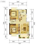 康平家园康平福邸2室2厅1卫83平方米户型图
