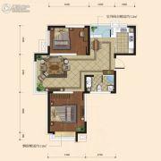 融城7英里2室2厅1卫80平方米户型图