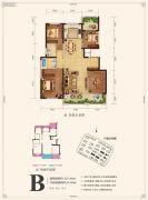 融创春风十里4室2厅2卫137平方米户型图