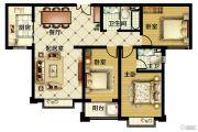 紫睿天和3室2厅2卫140平方米户型图