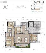 新城朗隽大都会4室2厅2卫108--135平方米户型图
