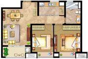 万业紫辰苑2室2厅1卫86平方米户型图