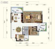 香槟小镇3室2厅1卫96平方米户型图