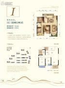 荣安林语春风3室2厅2卫78--97平方米户型图