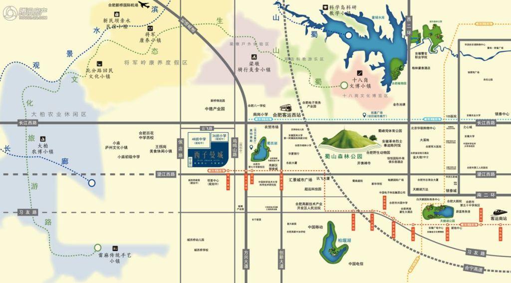 西子曼城区位图