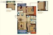 恒威肯特国际社区3室2厅2卫96平方米户型图