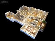 恒威中央领地3室2厅2卫140平方米户型图