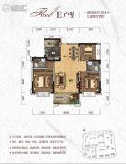 天元・美居乐3室2厅2卫104平方米户型图