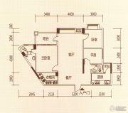 百福豪园3室2厅2卫110平方米户型图