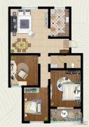 翡翠�m亭3室2厅1卫100平方米户型图
