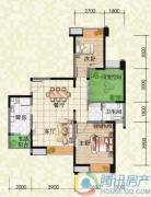 瑞升望江橡树林2室2厅1卫90平方米户型图