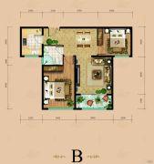 东岳国际2室2厅1卫98平方米户型图