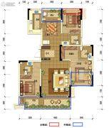 南充希望城3室2厅3卫0平方米户型图
