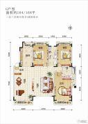 欧华逸景香山3室2厅2卫164平方米户型图