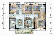 保利远洋领秀山4室2厅2卫141平方米户型图