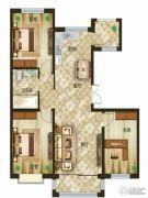 吉森漫桦林3室2厅1卫105平方米户型图