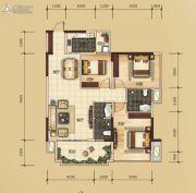 万锦名门3室2厅2卫102平方米户型图