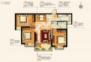 物华澜菲溪岸3室2厅1卫98--100平方米户型图