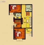 濮上名家3室2厅1卫86平方米户型图