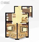 城关江南明珠2室2厅1卫76平方米户型图