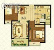 恒大山水城2室2厅1卫82平方米户型图