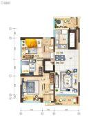 碧桂园玺悦3室2厅2卫99平方米户型图