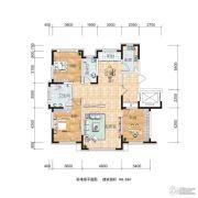 源山别院2室3厅2卫143平方米户型图