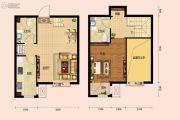 房信彩虹城1室2厅2卫0平方米户型图