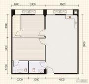 东山康城2室2厅1卫88平方米户型图