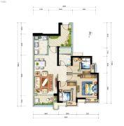 广州亚运城3室2厅1卫91平方米户型图
