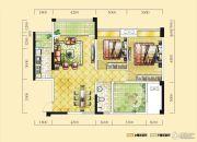 远达天际上城3室2厅1卫98平方米户型图