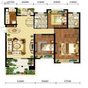 宝能水岸康城3室2厅2卫113平方米户型图