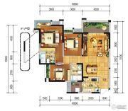 远大中央公园3室2厅2卫107--120平方米户型图