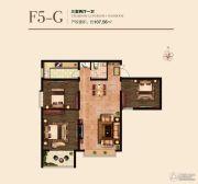 国瑞瑞城3室2厅1卫107平方米户型图