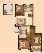 金麟府3室2厅2卫90平方米户型图