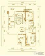 万秀城3室2厅2卫126平方米户型图
