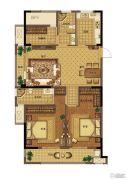 信达翰林兰庭3室2厅2卫118平方米户型图
