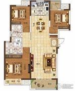 奥兰和园3室2厅2卫124平方米户型图