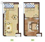 万和春天商业中心1室2厅2卫0平方米户型图